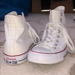 White Converse High-top